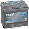 Exide EA472 Premium 47ah 450A (R+) 207x175x175 мм